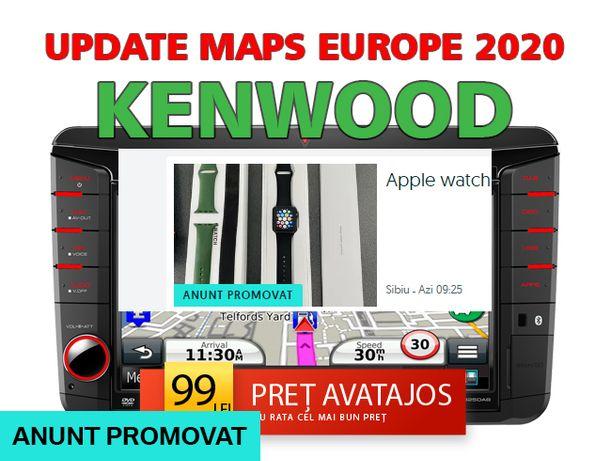 Harti Navigatie 2020 Kenwood (DNX sau KNA) Europa Romania 2020