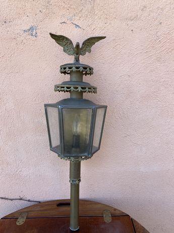 Градинска лампа фенер от месинг