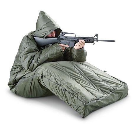 Sac de dormit militar cu maneci