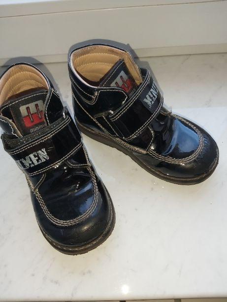 Осенние кожаные ботиночки для мальчика, Турция, Minimen