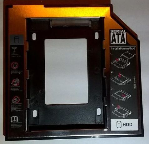 Rack caddy laptop pt hdd/ssd 2.5 s-ata in locul unitatii optice 12.7mm