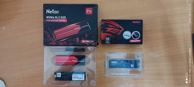 Продам SDD диски M.2 NVMe (1 и 2 ТБ) (Новые)