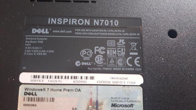 Dezmembrez laptop Dell Inspiron N7010