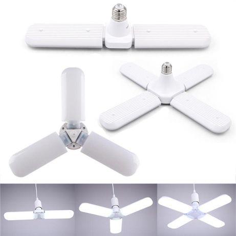 Ярка сгъваема LED лампа тип перка с цокъл E27 30/45/60W