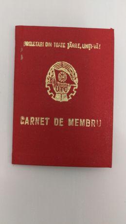 Vând-schimb carnet membru UTC și carnet de evidențiere a pionierului