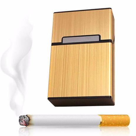 Кутия/табакера за цигари за 80 мм, метална кутия с магнитен капак