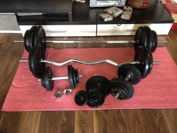 Pachet Kettler sala Gantere Reglabile,Bara piept, Bara Z total 153 kg