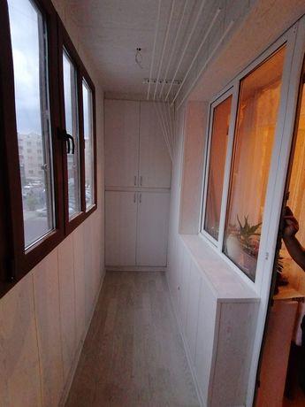 Ремонт балкона, Утепление балкона, пластиковые окна и шкафы