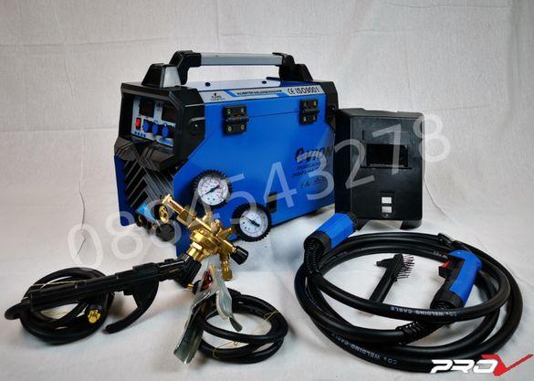 Професионално телоподаващо с електрожен 250 Ампера MIG/MMA с ГАЗ
