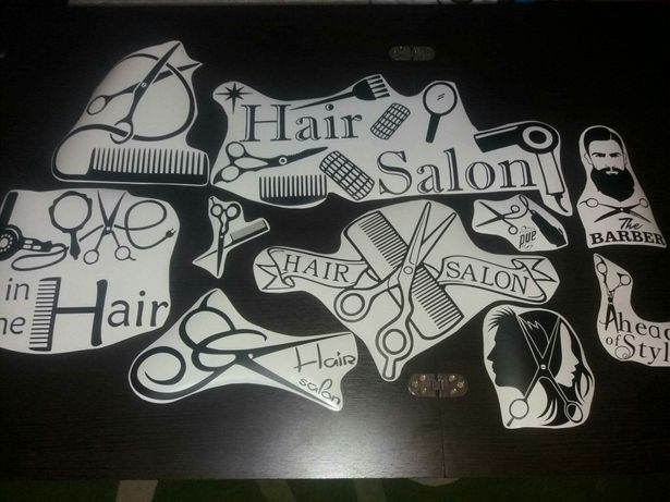 Stickere autocolante Fizerie/ Hair Salon