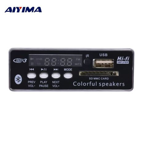 Mp3 плеър Bluetooth 5.0 модул за вграждане AIYIMA 12V Sd/Fm/USB/IR