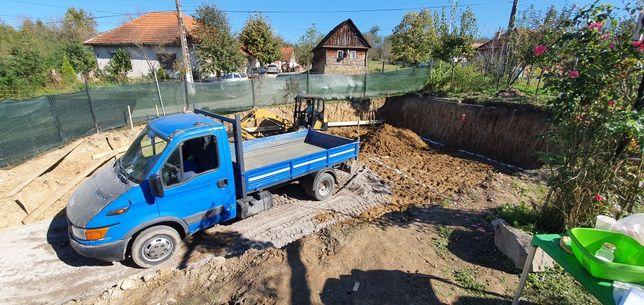 Inchiriez Excavator 3,5 to, Bobcat 3 to si Camioneta 3,5 to