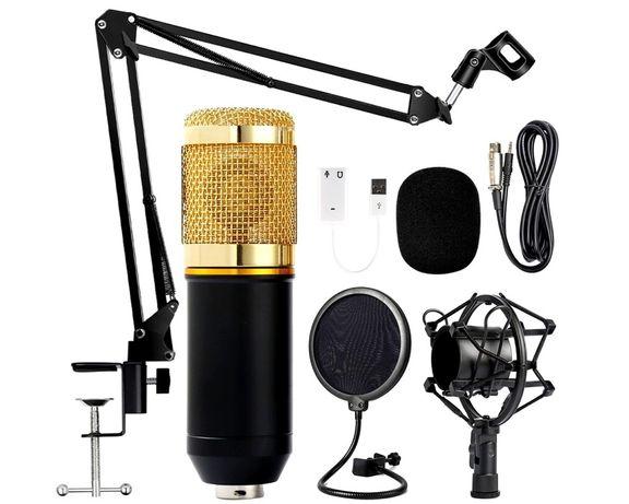 Микрофон BM800. Со стойкой и звуковой картой, как на фото. БМ800