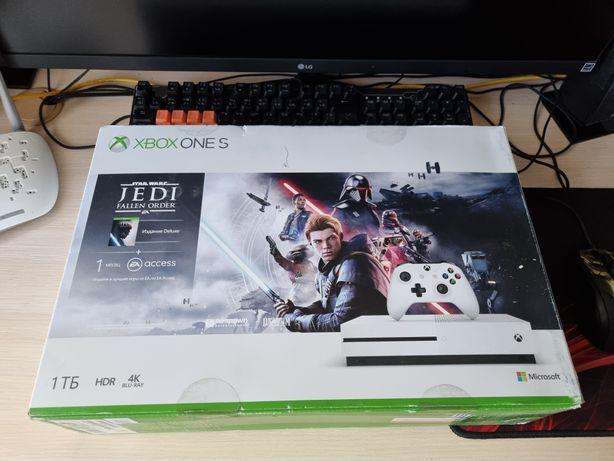 Xbox one S 1TB + подписки game pass и live gold + игра звёздные войны