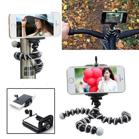 Трипод + стойка за телефон смартфон,статив фотоапарат екшън камери