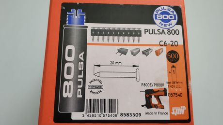 Пирони за бетон и метал PULSA SPIT p800 с газ 15,17,20,32,35,40 mm