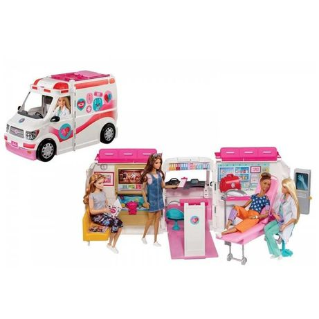 Set joaca - Masina Ambulanta echipata de jucarie pentru papusi Barbie
