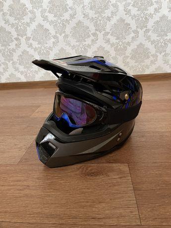 Продам мотошлем  и очки для мотоцикла