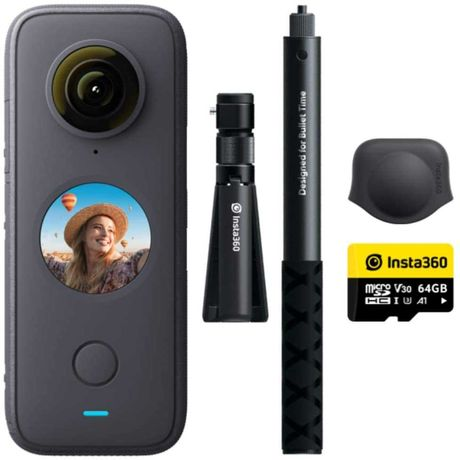 Insta360 ONE X2 + Selfie Stick + Tripod + Lens Cap + SanDisk 64GB