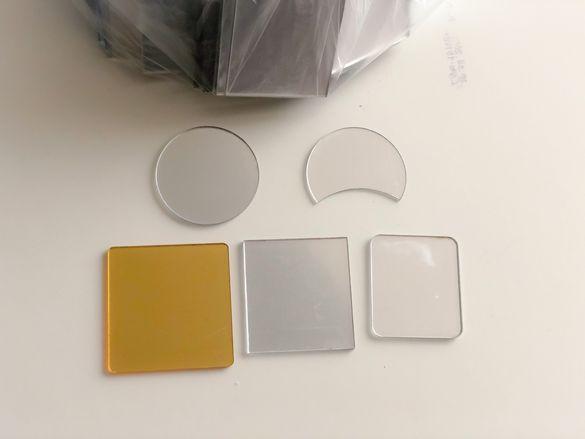 100 броя огледален плексиглас за декорация