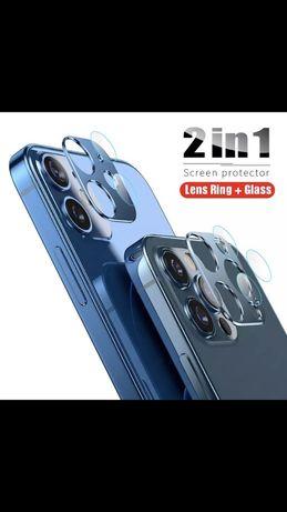 Алуминиев ринг и стъклен протектор за камерата за IPhone 12 Pro Mini
