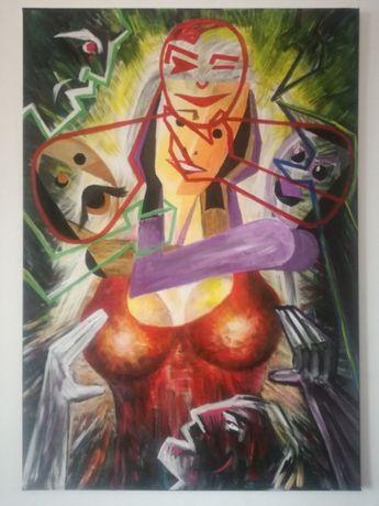 pictura - tablou- In farmecul unei femei