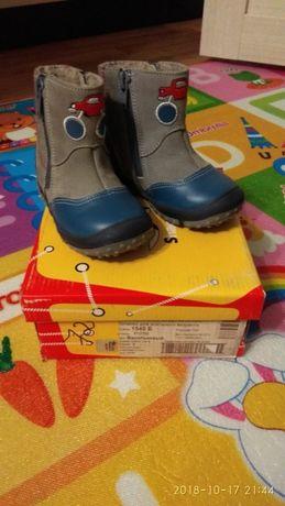 Новые Белорусские Кожаные утепленные ботинки!21 размер