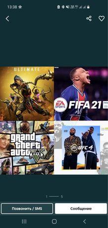 Playstation4 лицензионные игры установка с гарантией UFC4 FIFA 22