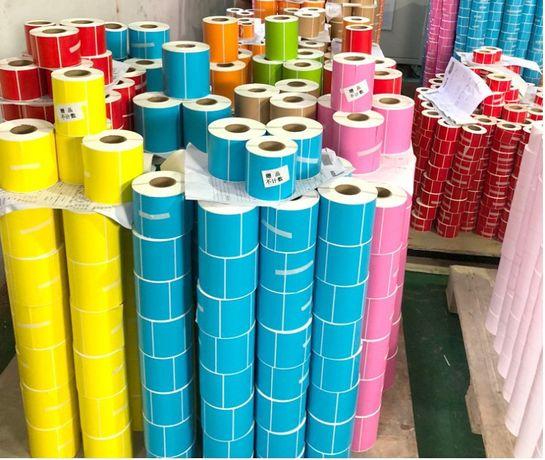 Цветные термоэтикетки стикеры
