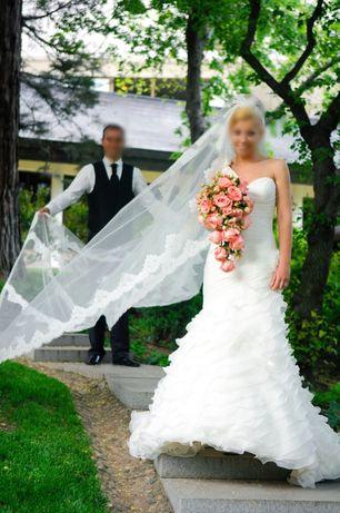 Продавам сватбена рокля и воал