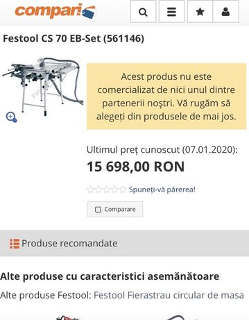 Masa cercular Festool CS 70 EB