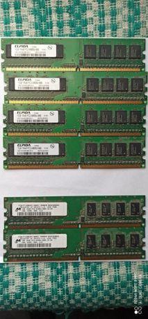 Vand memorie ram DDR2 1Gb 6 bucati
