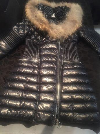 Дамско яке с естествен пух на качулката