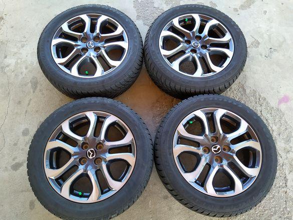 Мазда 2 перфектни джанти 16 цола със зимни гуми 185/60/16 Mazda 2