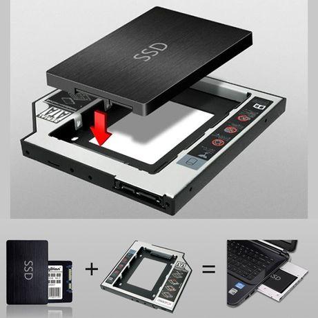 Адаптер optibay для SSD / Установка SSD / caddy hdd/ssd 12.7 / 9.5mm