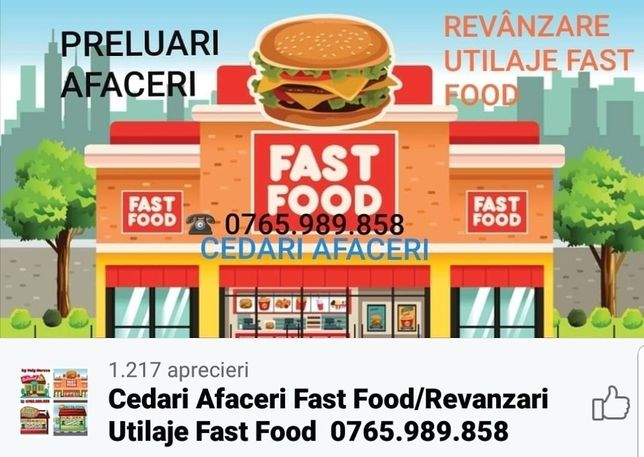 Cedez afacere fast food,restaurant,pizzerie,patiserie,hotel,macelarie
