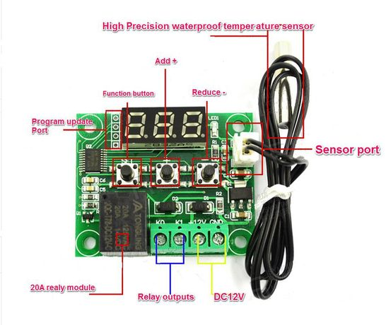 Цифров термостат - 50 до 110°С