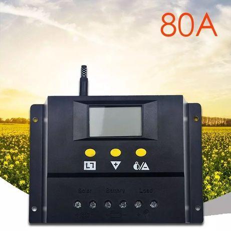Соларен контролер 80А 12 / 24v висок клас регулатор амперметър 80 A 80