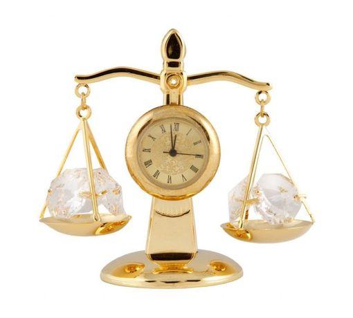 Balanta cu Ceas cu Cristale Swarovski – placata cu Aur 24K