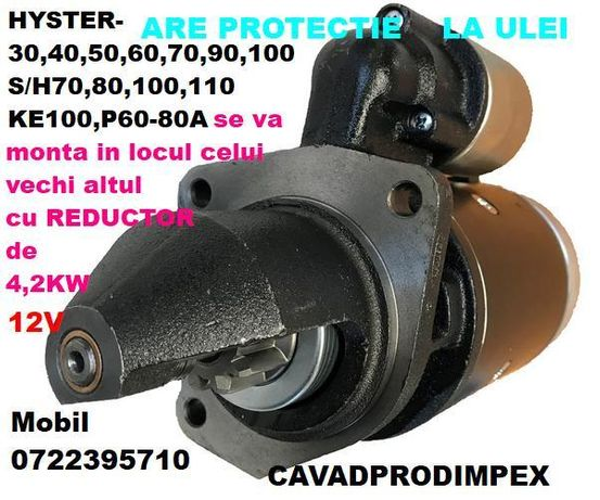 Electromotor stivuitor HYSTER cu reductor putere 4.2kw,protectie ulei