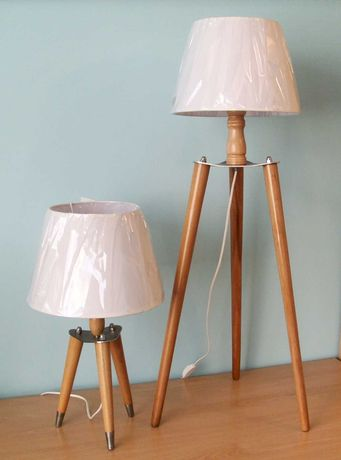 Комплект настолна лампа и лампион триподи