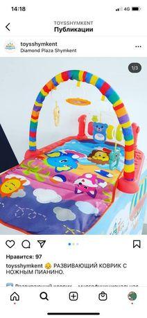 Продается детский лежак с игрушками