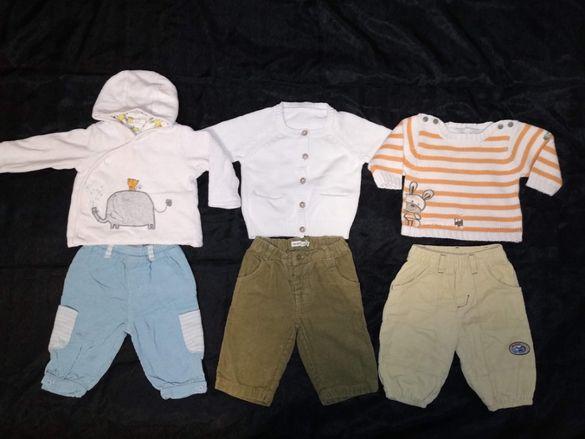 Разпродажба на бебешки дрешки за момче р.62-74 см