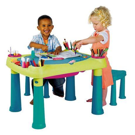 Masuta joaca activitati copii cu scaune, NOI, diverse culori, masa