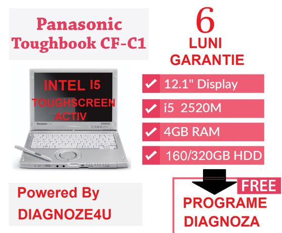 Tableta Laptop Diagnoza Panasonic Toughbook CF-C1 TouchScreen I5