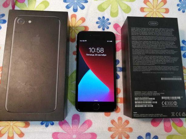 iPhone 7 128gb / айфон 7 jet black onyx в хорошем состоянии