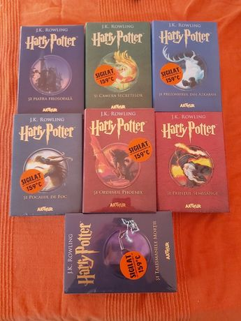Vand set Harry Potter 1-7, carti noi, in tipla