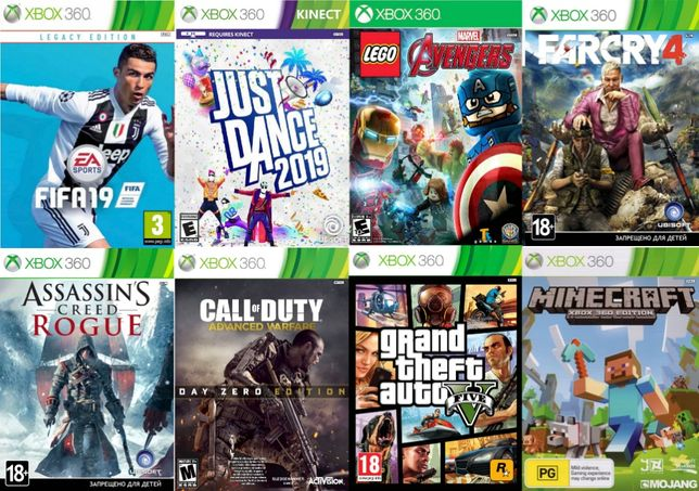 Игры Xbox360 . Более 500 игр (красочная упаковка)