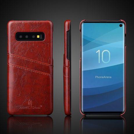 Husa Samsung S10, piele fina CaseMe, back cover, cu buzunare carduri