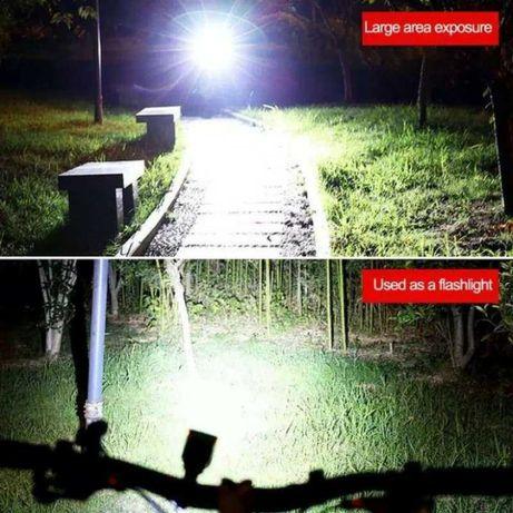 Lanterna/far trotineta bicicleta + claxon incarcare Solara Usb 220V